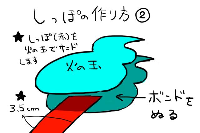 ジバニャン仮装グッツ作り方09-1