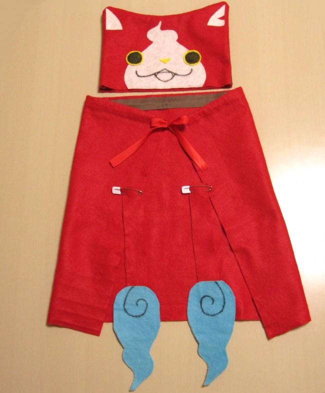 100均商品で1日で作れるハロウィン子供の仮装でジバニャンに変装
