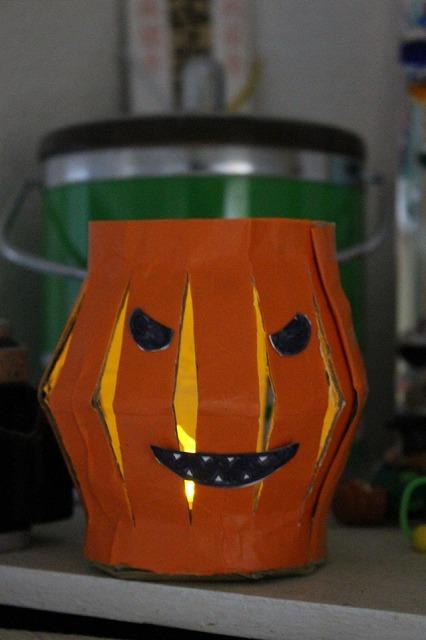 かぼちゃランタン作り方