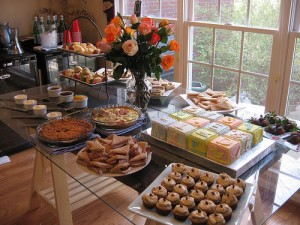 Baby-Shower-Food-Table-And-Dessert