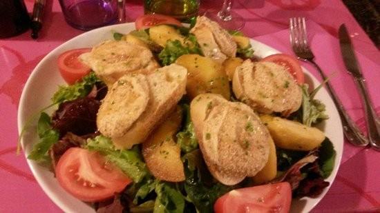 salade-de-chevre-chaud