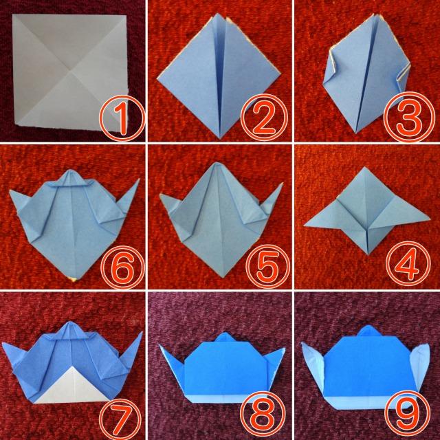 折り紙スティッチ折り方