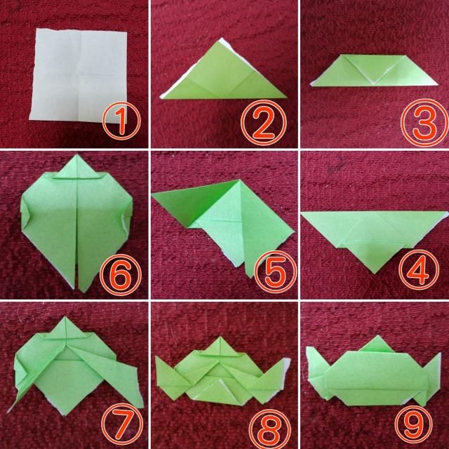 リトルグリーンメン折り紙折り方