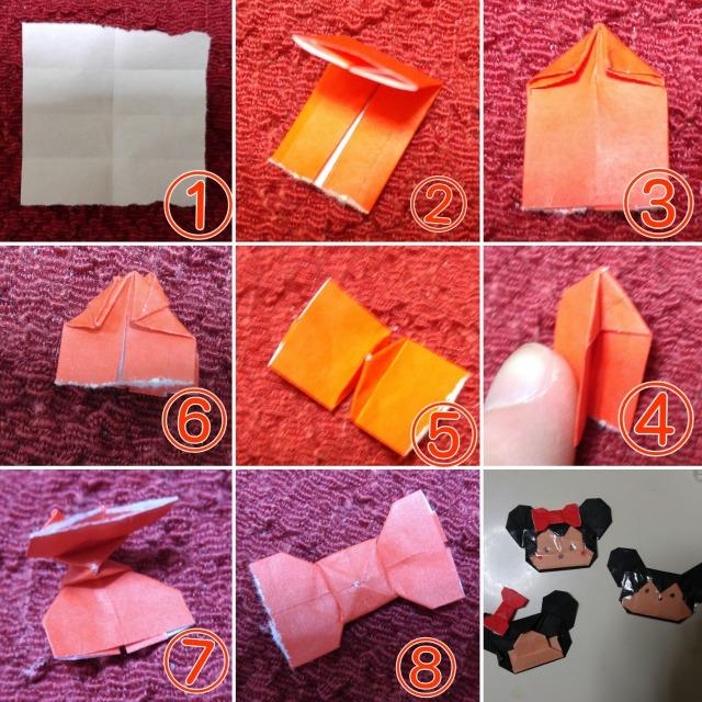 折り紙ミッキー折り方