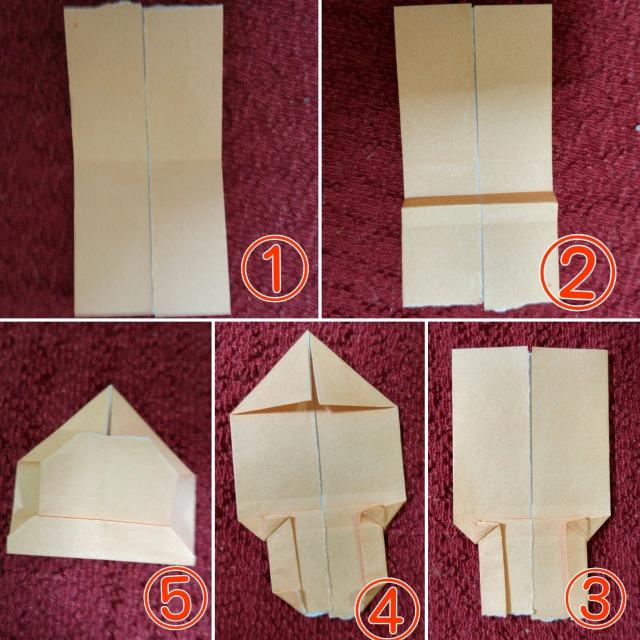 折り紙ミッキー作り方