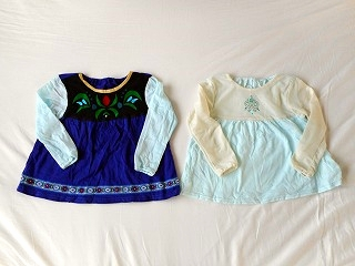 ef2b5a6f7460 「スカッツ」と「丸衿ワンピース」で娘の大好きなミニーちゃん風スカッツとワンピースも作りました。