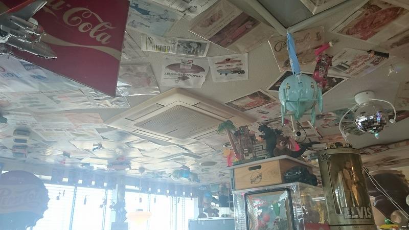 ペッパーズドライブイン天井