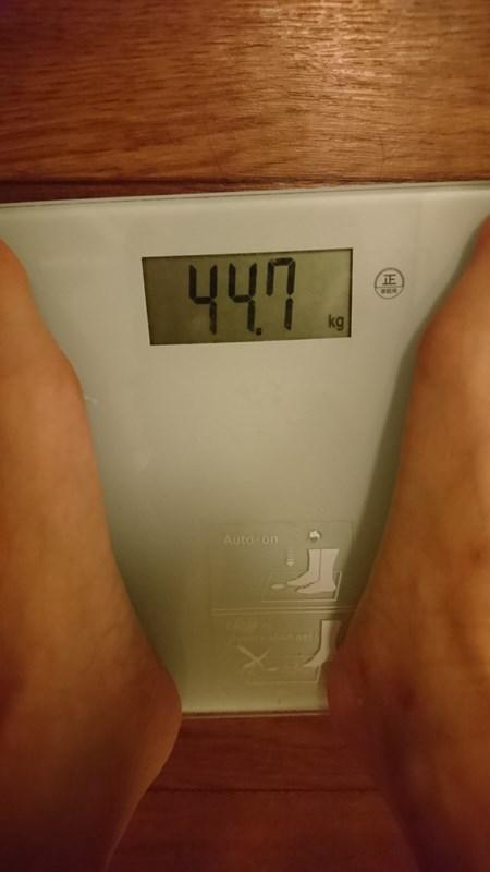 黒汁ダイエット開始前体重